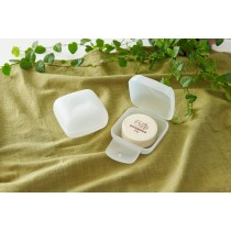 無印風透明旅行皂盒